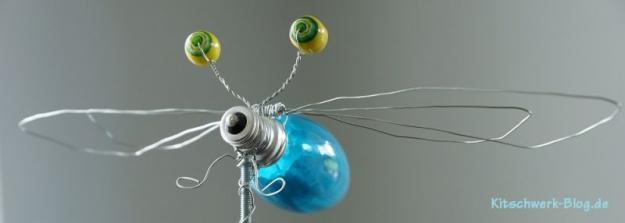 Libelle Glühbirne Upcycling 1