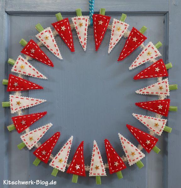 Tannenbaumkranz, Weihnachten, selber machen, Adventskranz, basteln, gutscheine, geldgeschenk