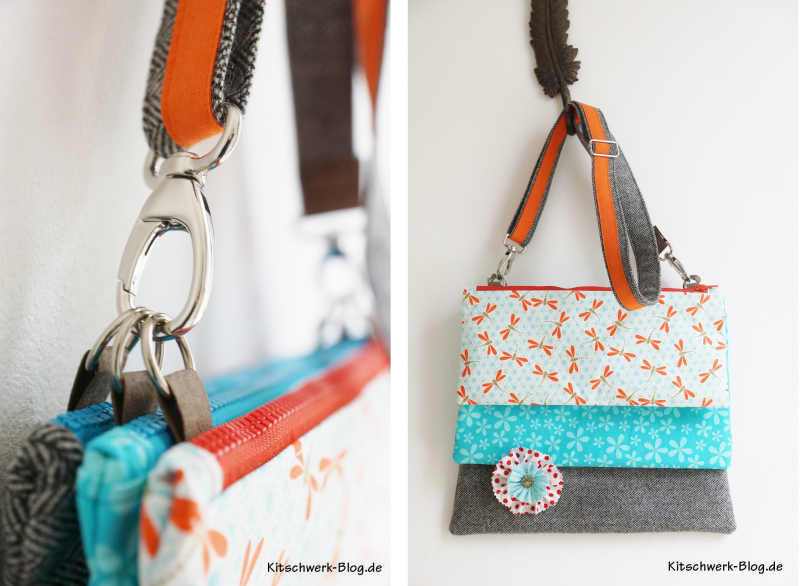 Triple Bag drei Taschen zum selber nähen