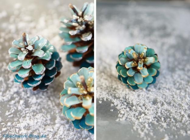 Weihnachten Tannenzapfen basteln