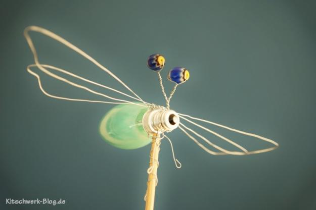 Libelle Glühbirne Upcycling 4