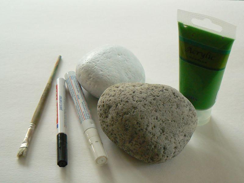 Diy steine bemalen kitschwerk for Steine baumarkt