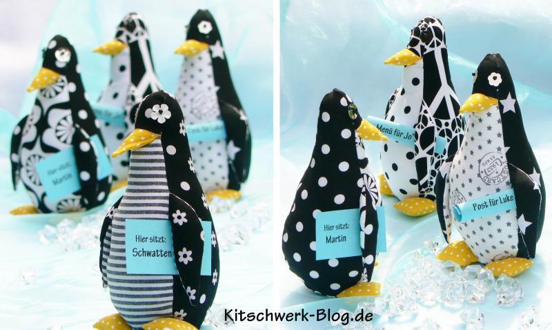 Weihnachtliche Pinguine selber nähen, Anleitung, Schnittmuster 1:1