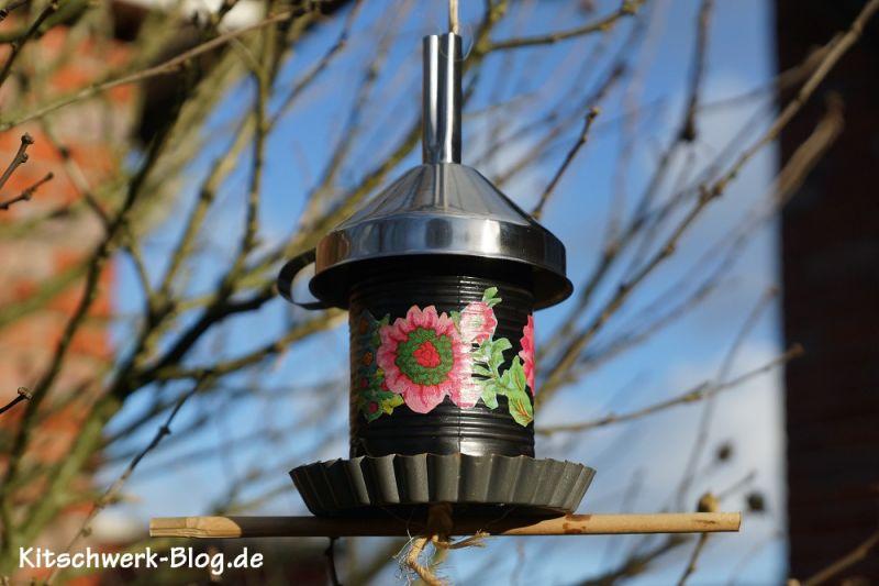 Vogelfutterspender, Vogelfutterstation, selber machen, mit Kindern basten